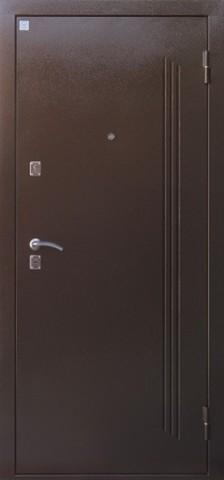 Дверь входная Лазурит 2 стальная, беленый дуб, 2 замка, фабрика Алмаз
