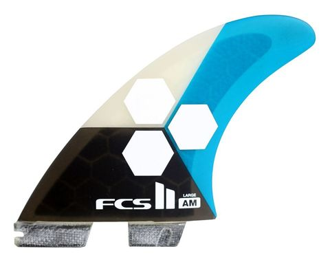 Плавники FCS II AM PC Large Teal, компл. из трех, L