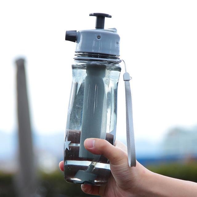 Серый цветовой вариант спортивной бутылки