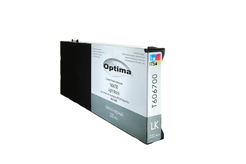 Картридж Optima для Epson 4800/4880 C13T606700 Light Black 220 мл