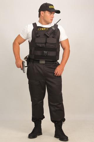 Бронежилет Комфорт 1-1 УНИ чехол Охранник (тканевая бронепанель) с боковой защитой, Бр1 класс защиты. ПОЛНЫЙ