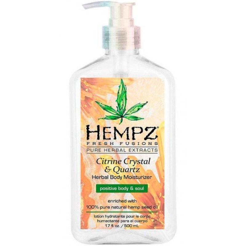 Hempz - Уход для тела: Молочко для тела увлажняющее с мерцающим эффектом Желтый Кварц (Citrine Crystal & Quartz Body Moisturizer), 500мл