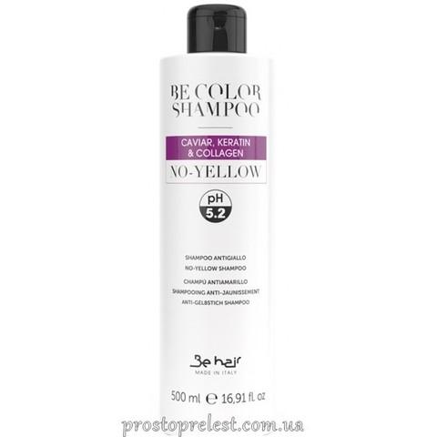 Be Color No Yellow Shampoo - Антижовтий шампунь з колагеном, ікрою і кератином