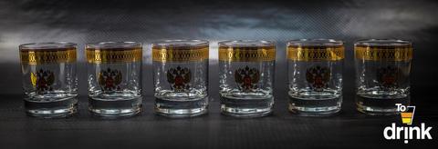 Подарочный набор из 6 стаканов для виски «Держава», 225 мл