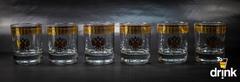 Подарочный набор из 6 стаканов для виски «Держава», 225 мл, фото 1