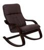 Кресло-качалка «ЭЙР», эко кожа шоколад, каркас венге структура, GREENTREE