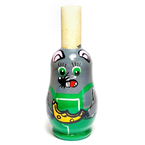 Свистулька деревянная игрушка расписная для детей