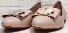 Красивые балетки туфли женские лодочки Wollen G192-878-322 Light Pink.