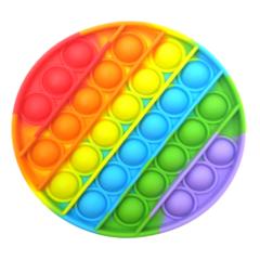 Пупырка вечная антистресс pop it (поп ит)  - набор радужные 9 шт микс