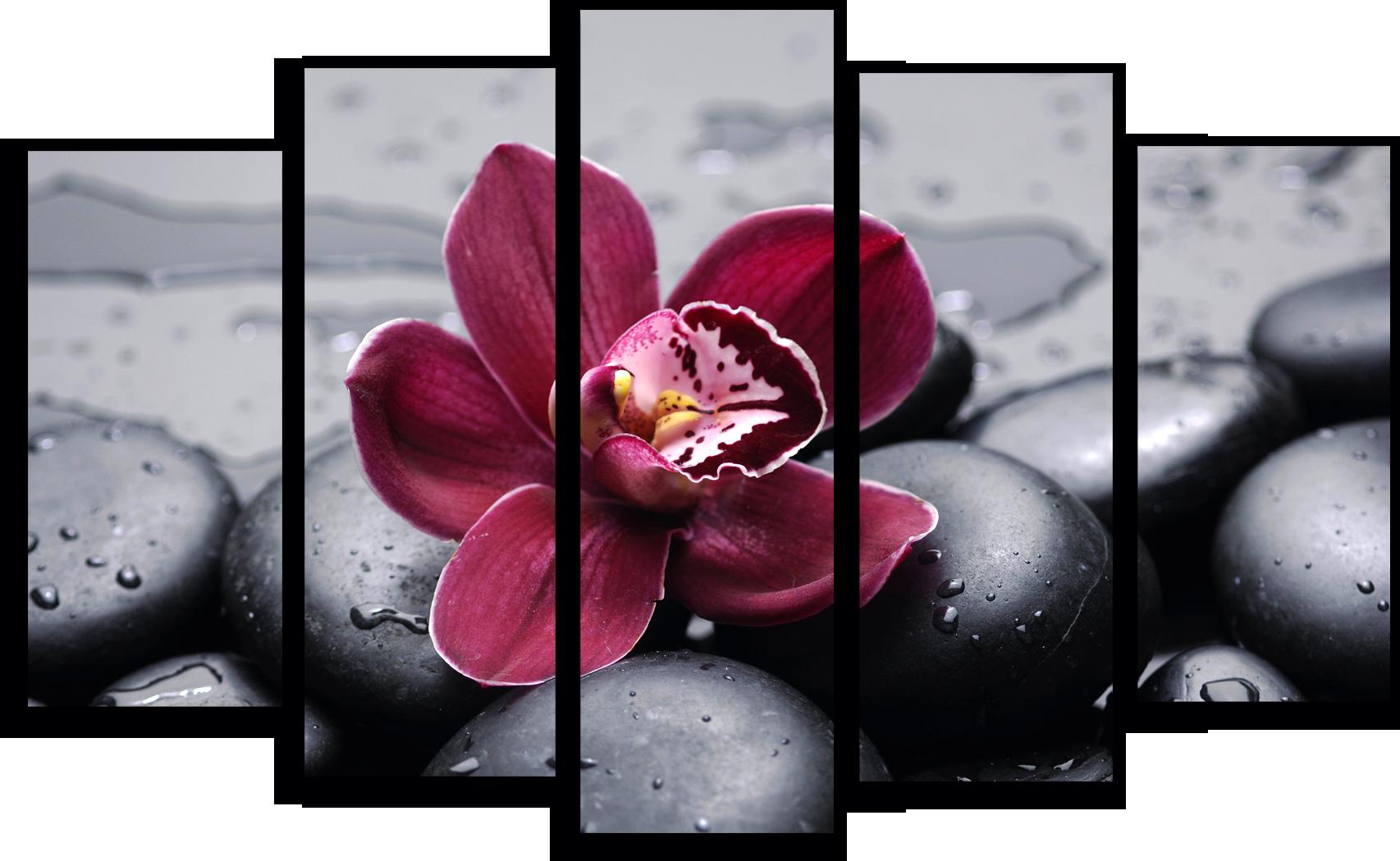 """Модульные картины Модульная картина """"Красная орхидея"""" М282.png"""