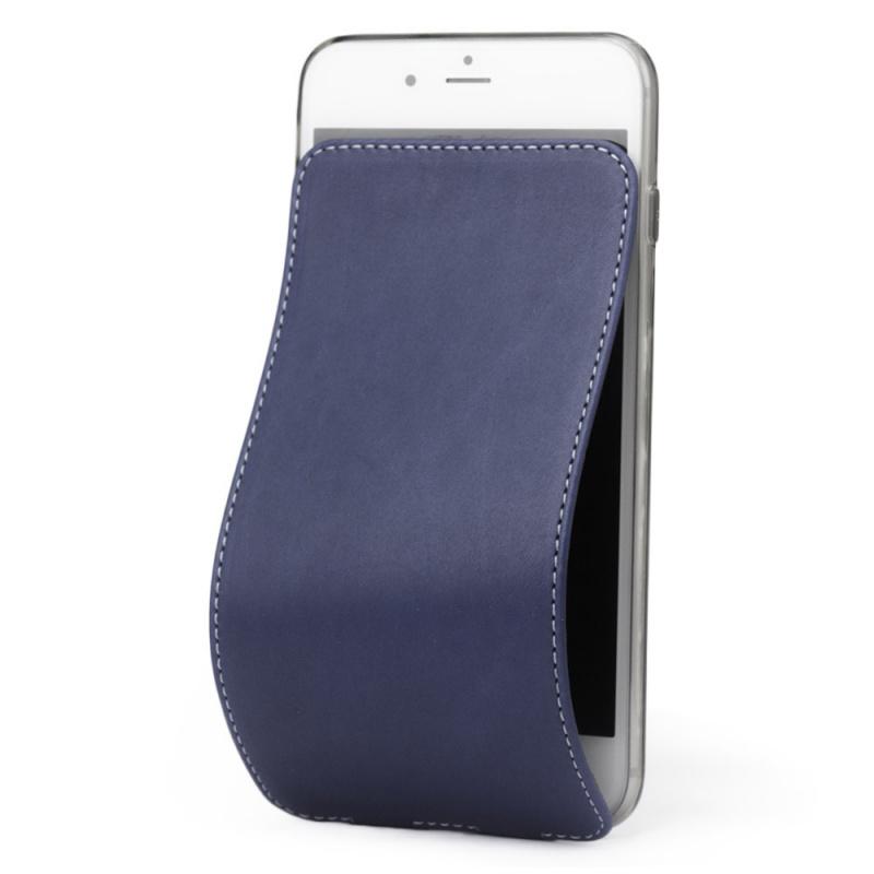 Чехол для iPhone 7 из натуральной кожи теленка, синего цвета