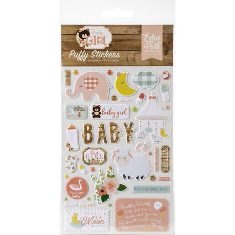 Паф-стикеры Echo Park Baby Girl Puffy Stickers