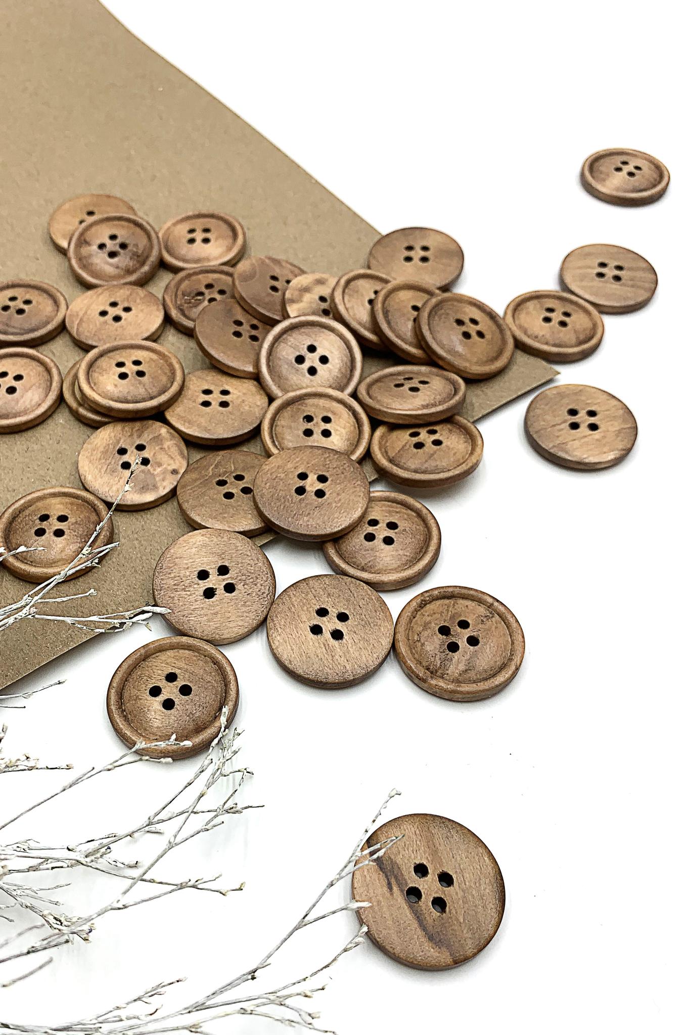 Пуговица деревянная2; 25 мм