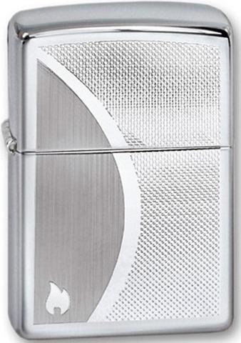 Зажигалка Zippo Shadow Gradiant с покрытием High Polish Chrome, латунь/сталь, серебристая123