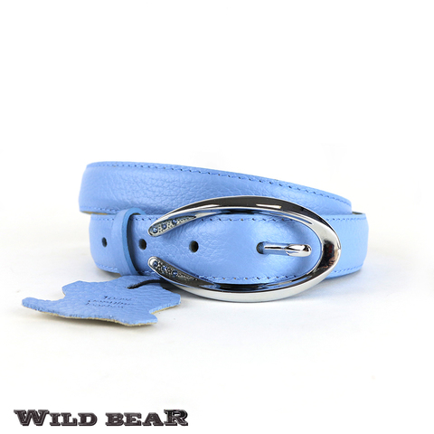 Ремень WILD BEAR RM-045f Light-blue Premium