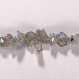 Бусина из лабрадора (спектролита), фигурная, 1x5 - 4x8 мм (крошка, гладкая)