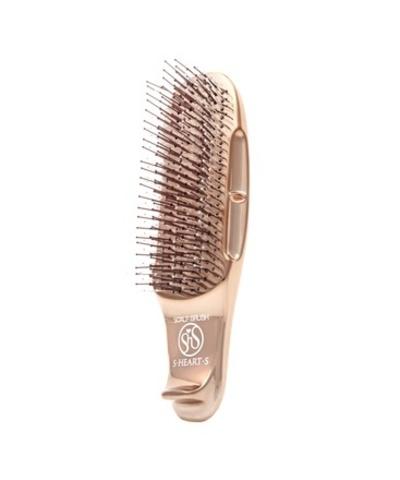Расческа Scalp Brush Gold c укороченной ручкой (розовое золото)