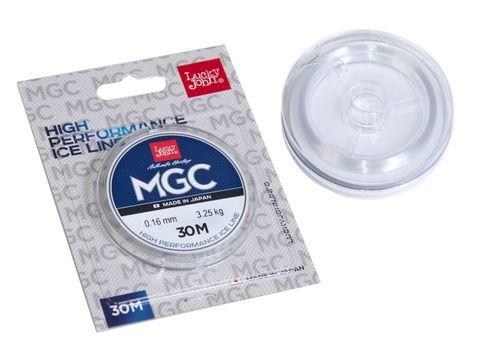 Леска монофильная LUCKY JOHN MGC, зимняя, 30 м - 0.16 мм, прозрачная