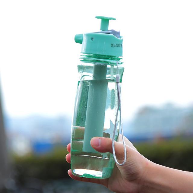 Мятный цветовой вариант спортивной бутылки