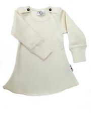 Платье с длинными рукавами ManyMonths, Натуральный (шерсть мериноса 100%)