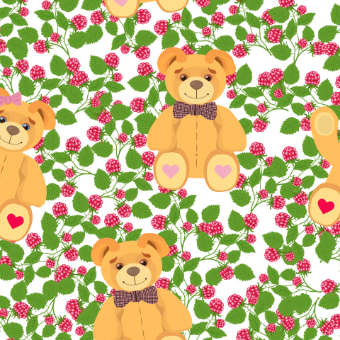 Медвежата в малине