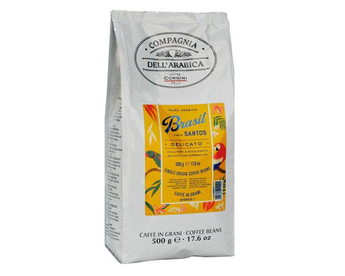 купить Кофе в зернах Compagnia Dell`Arabica Brasil Santos, 500 г