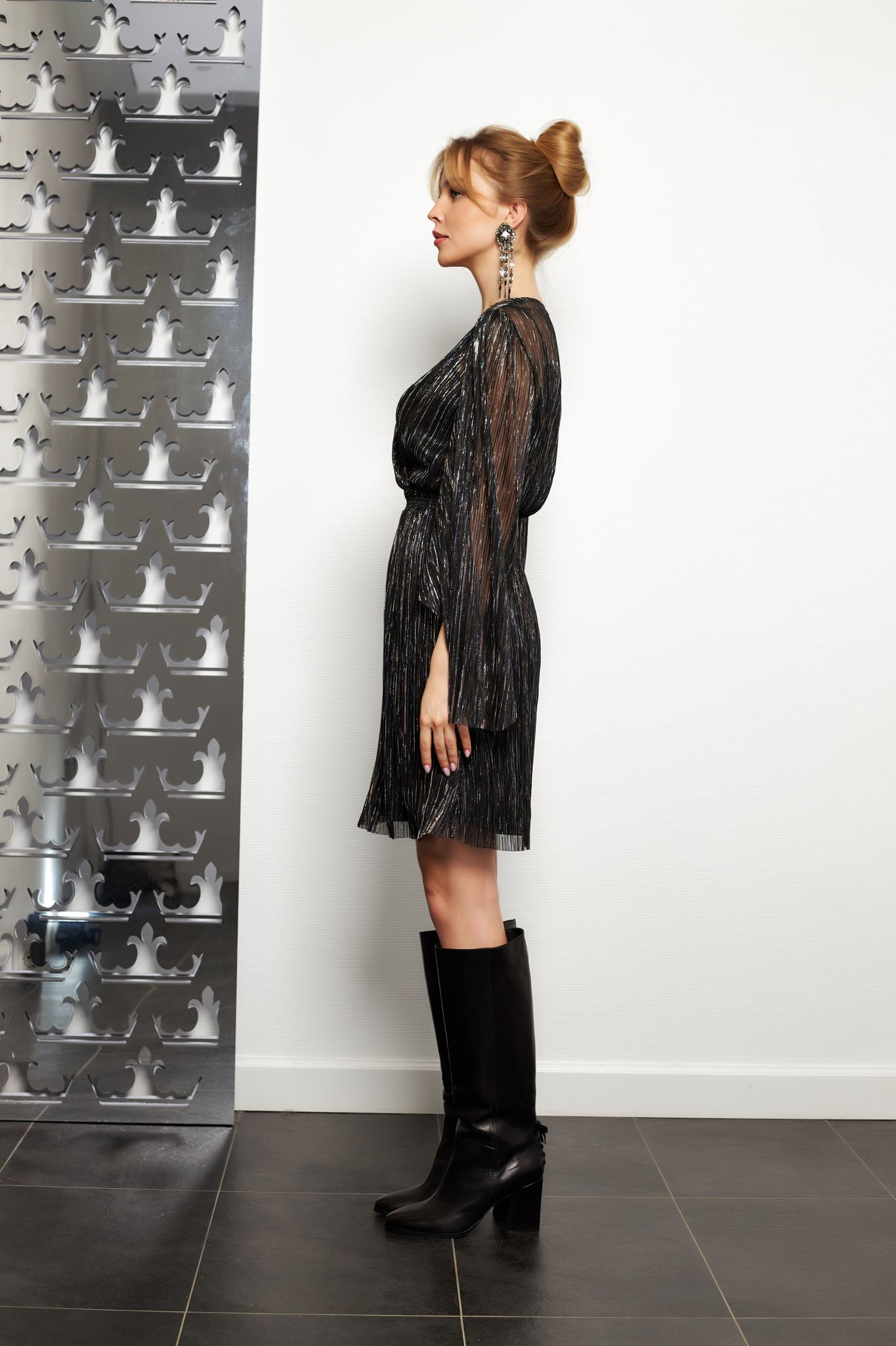 Steffen Schraut Платье с нитями из люрекса
