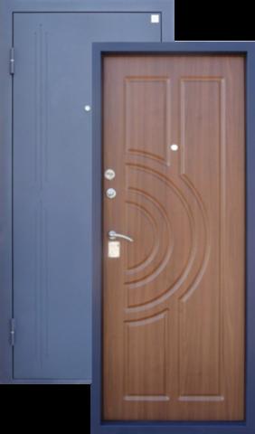 Дверь входная Малахит стальная, итальянский орех, 2 замка, фабрика Алмаз