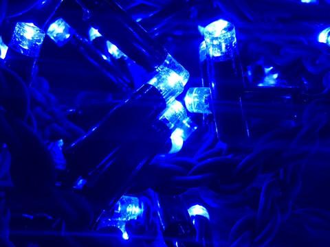 Штора-гірлянда Вулична 120 LED BX 3 на 1 м. синя