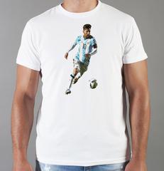 Футболка с принтом Лионель Месси (Lionel Messi) белая 005