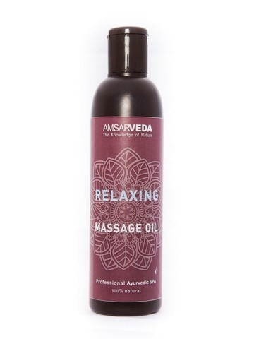 Масло массажное расслабляющее Relaxing AMSARVEDA 250мл