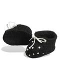Ботиночки из фетра в горошек - Черный/горох. Одежда для кукол, пупсов и мягких игрушек.