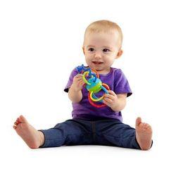 Oball. Развивающая игрушка Разноцветная гантелька, 3м +