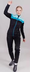Утепленный женский лыжный костюм Nordski Drive Black-Mint W