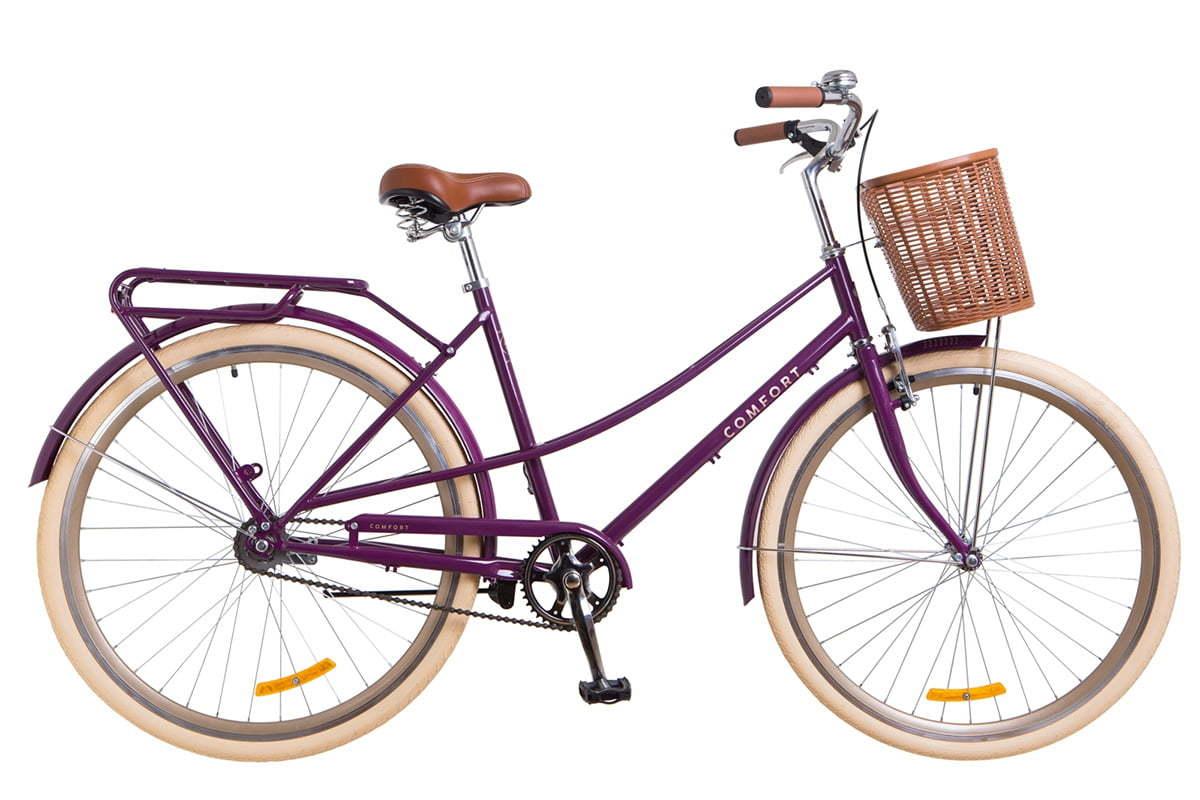 Міський жіночий велосипед Dorozhnik Comfort Female фіолетовий