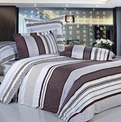 Сатиновое постельное бельё  1,5 спальное Сайлид  В-105