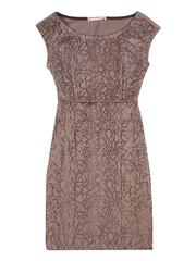 GDR003541 Платье женское, бежево-серое