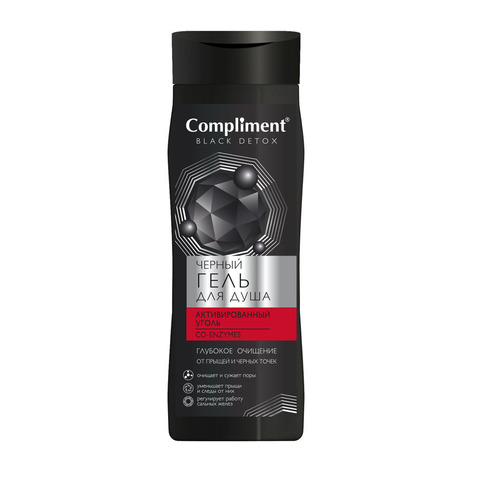 Compliment BLACK DETOX Черный Гель для душа CO-ENZYMES