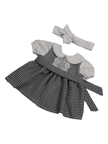 Платье комбинированное - Черный. Одежда для кукол, пупсов и мягких игрушек.