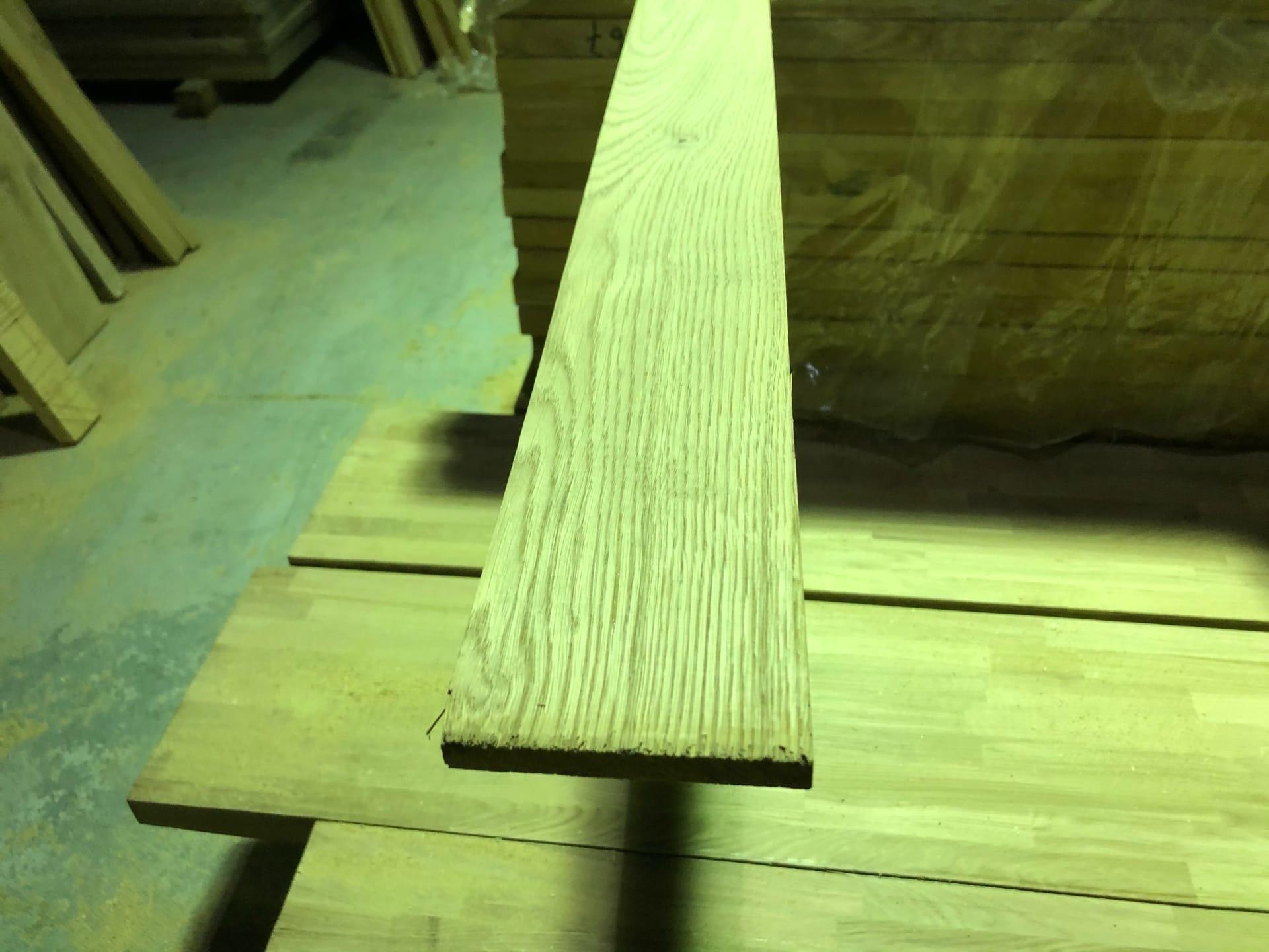 Добор для дверей дубовый толщина - 12 мм, ширина 70 мм