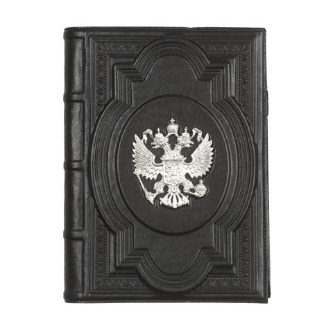 Ежедневник А5 «Держава» с посеребренным орлом