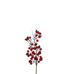 Веточка 33см House of Seasons Красные ягоды