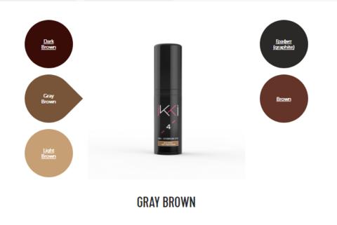 Гель-краска для бровей IKKI во флаконе (№4 серо-коричневый) 5мл