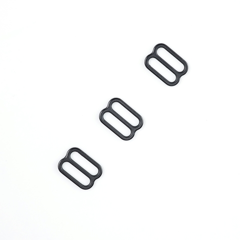 Регулятор для бретели черный матовый 12 мм