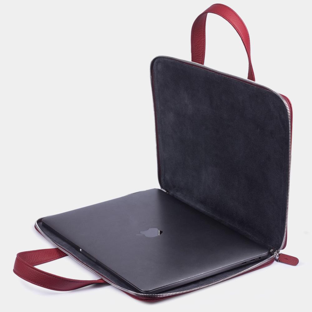 Zipped & pockets 13'' - cherry