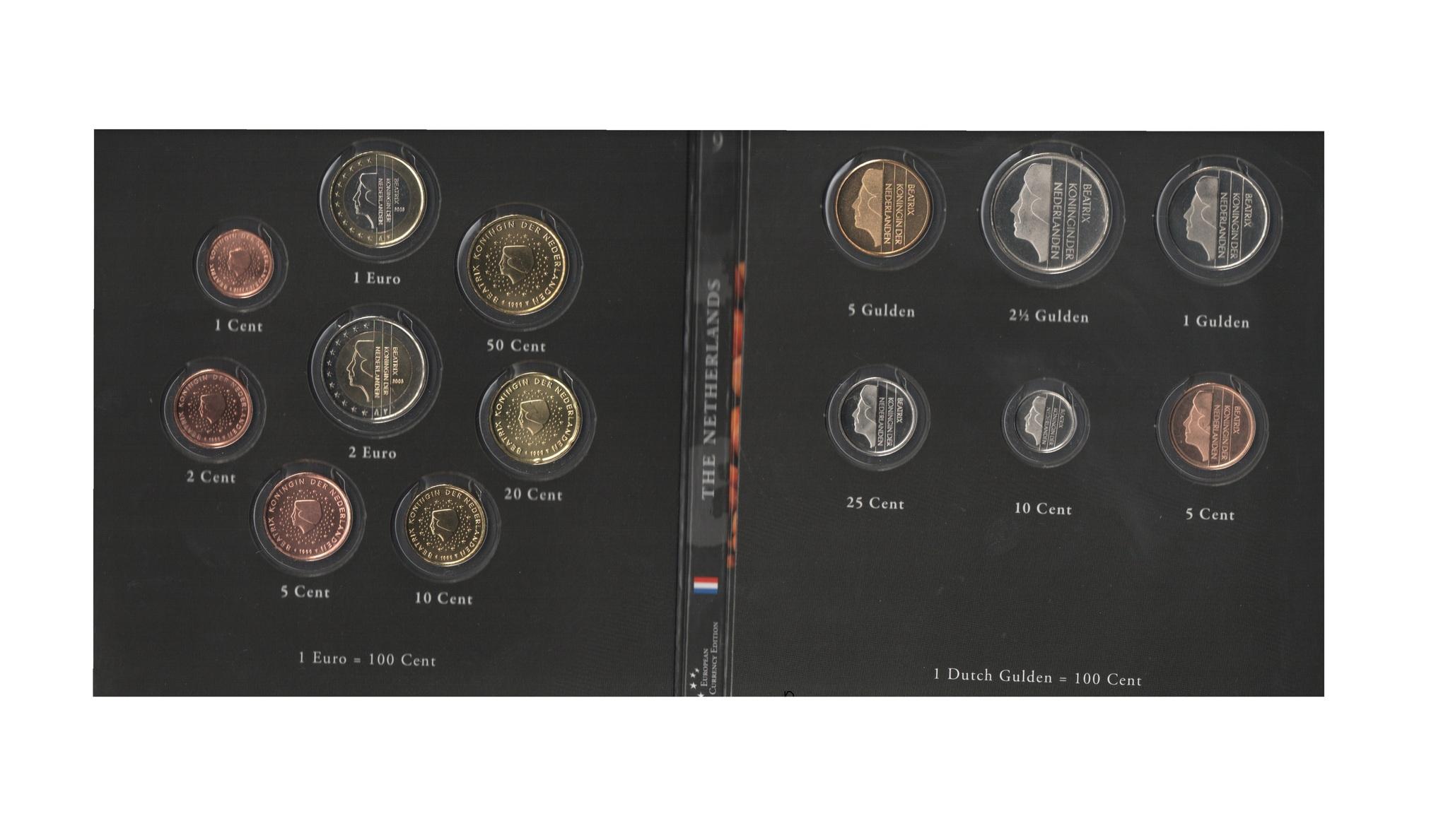 Набор монет 20 лет Евросоюзу. Нидерланды