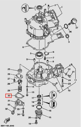 Прокладка масляного насоса для лодочного мотора F5 Sea-PRO(4-30)