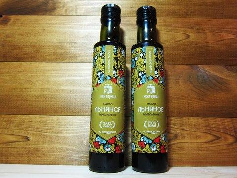 Сыродавленное масло льняное