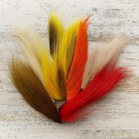 WAPSI Мех с хвоста оленя в наборе из 6-ти популярных цветов Bucktail Assortiment