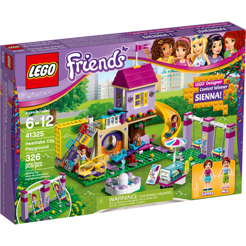 LEGO Friends: Игровая площадка Хартлейк Сити 41325 — Heartlake City Playground — Лего Френдз Друзья Подружки